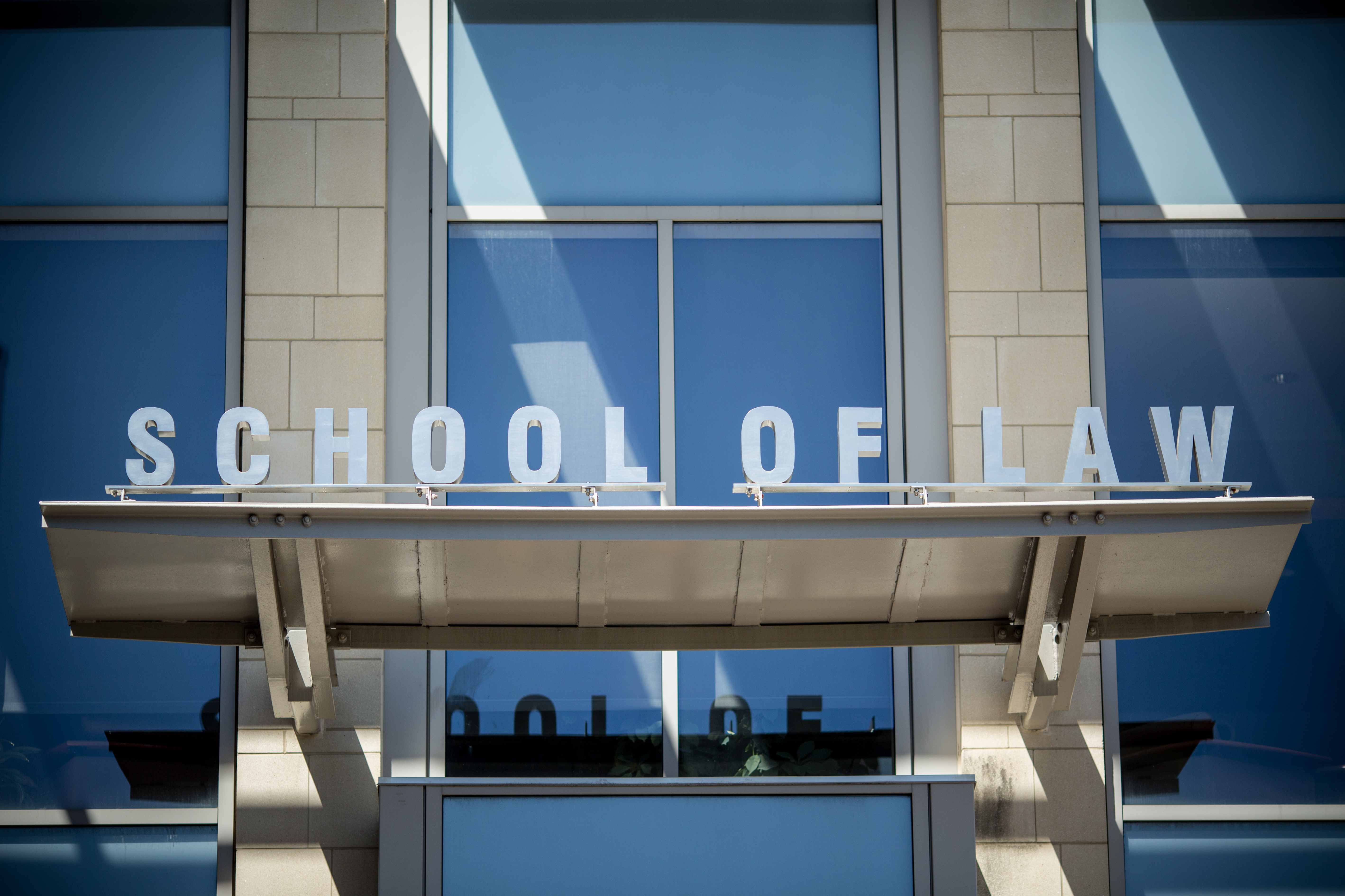 School of Law sign.