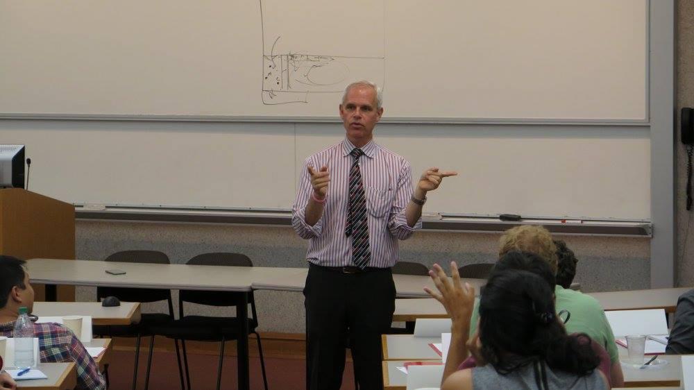 Professor lecturing a class
