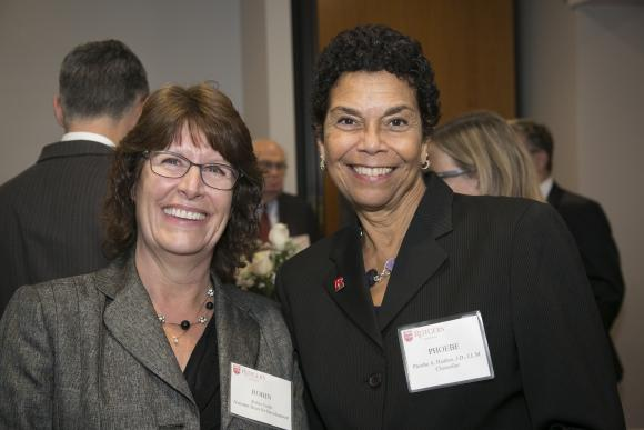 Robin Todd, Assistant Dean of Rutgers Law School-Camden; Chancellor Phoebe Haddon