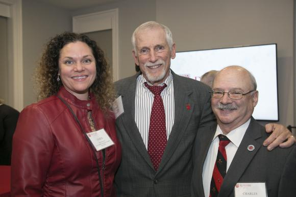 Janice Heinold, Chancellor Rutgers Law School-Camden Alumni Association; Neil Wise RLAW'75; and Charles G. Resnick RLAW'77