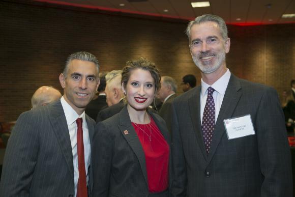 Ed Rentezelas, Assistant Dean Rutgers Law School-Camden, RLAW'99; Laura Ann Pontelandolfo, RLAW'09; Timothy Farrow, RLAW'99