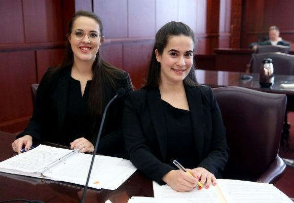 Hunter Moot Court 2018 Winners Lauren Hill and April Gambardella