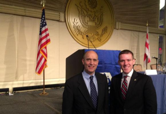 Brandon Pugh with Judge James E. Baker, Chair of the ABA's Standing Committee on Law & National Security