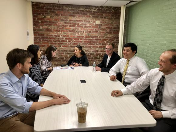 Rutgers One Ls meeting with immigration attorney Chris Setz-Kelly'13.jpg