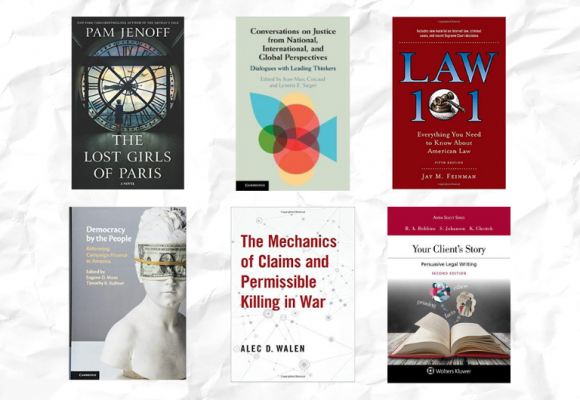 Book covers from Rutgers Law faculty members