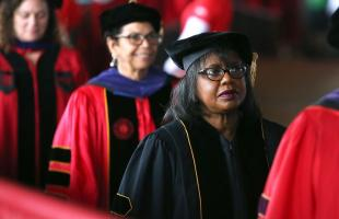 Anita Hill at Rutgers Law graduation in Camden