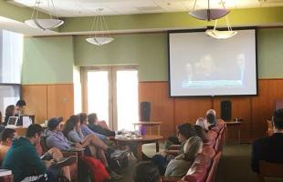 Students watch the SCOTUS confirmation hearings