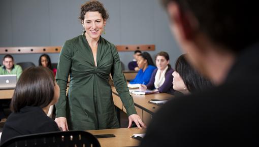 Ellen Goodman teaching students