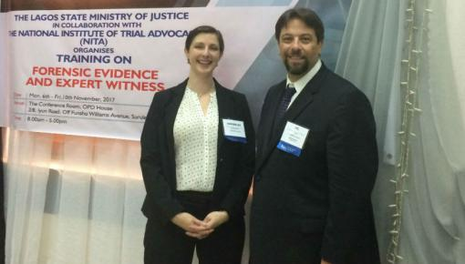 Kimberlee Moran and JC Lore at NITA training  in Lagos State in Nigeria