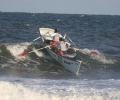 Anna Esposito serving as an ocean lifeguard