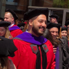 Abo Mahmoud in his graduation robes